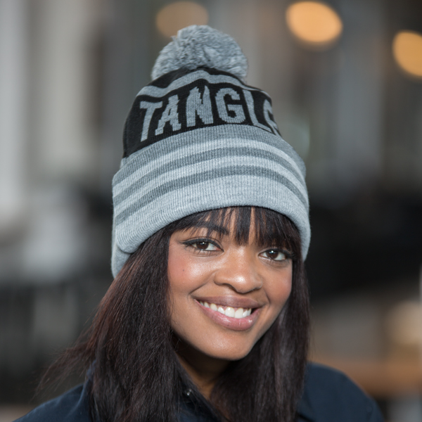 Tangled Roots Knit Hat with POM
